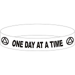 One Day at a Time  AA Wristband