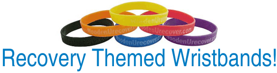 12 Step Recovery Wristbands!