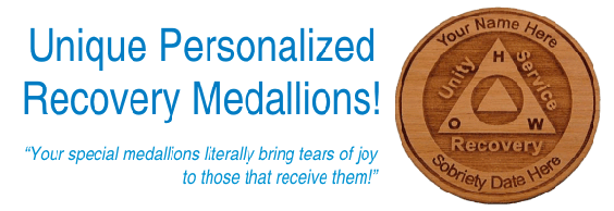 Personalized AA and NA Recovery Medallions, Tokens, and Chips!