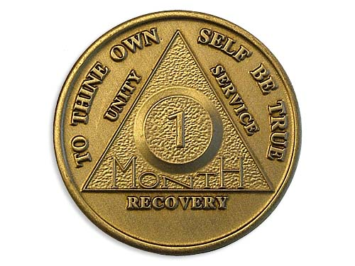 Bronze 1 Month Aa Chips And Coins Alcoholics Anonymous