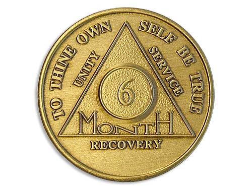 6 Month Bronze Alcoholics Anonymous Medallions And Tokens
