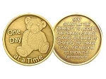 Teddy Bear Serenity Prayer Medallion