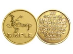 Keep It Simple Serenity Prayer Medallion