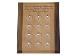 Deluxe 12 Medallion Holder/Display with Serenity Prayer