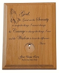 Serenity Prayer Medallion Holder Praying Hands- Large