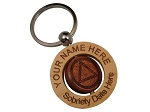 Personalized AA Spinner Key Chain