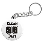 Days Clean Keychain