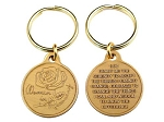 Bronze Women In Recovery Key-charm