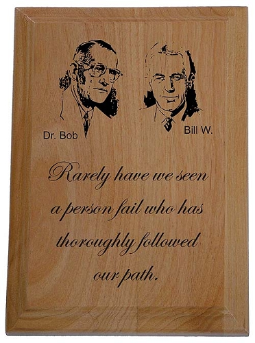 Aa Founders Wooden Plaque Alcoholics Anonymous Recovery