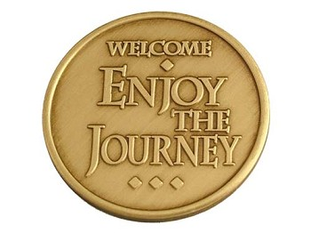 Welcome Enjoy the Journey Medallion