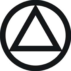 AA Circle & Triangle Decal