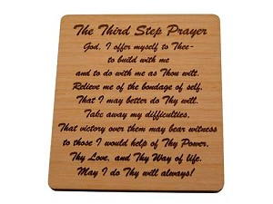 Small 3rd Step Prayer Plaque