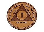 Wooden AA Anniversary Chip