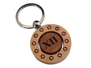 NA Birthday Spinner Key Chain