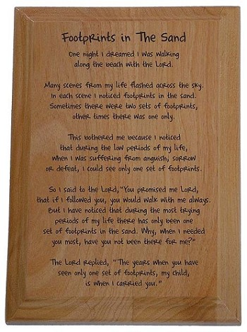 Footprints In The Sandpoem Poem Plaque Recovery Gifts