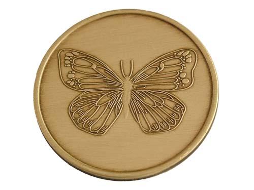 Butterfly Coin Serenity Prayer Bronze Medallion