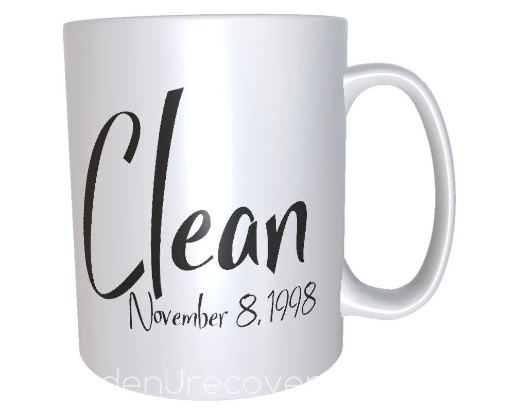 Personalized Clean Time Anniversary Coffee Cup