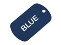 Blue Anodized Aluminum Dog Tag