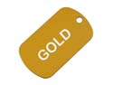 Gold Anodized Aluminum Dog Tag