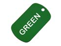 Green Anodized Aluminum Dog Tag