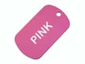 Pink Anodized Aluminum Dog Tag