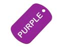 Purple Anodized Aluminum Dog Tag