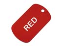 Red Anodized Aluminum Dog Tag