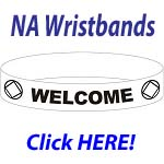 NA Key Fob Color Wristbands