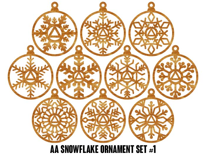 AA Snowflake Ornaments Set #1