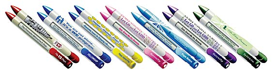 12 Step Recovery Pens with Click Driven Rotating Messages
