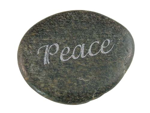 Laser Etched Serenity Stones Personalized River Rocks