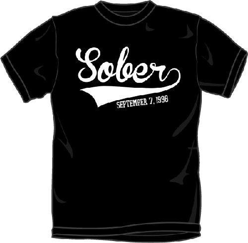 AA Sobriety T-Shirts | Sobriety Date with Baseball Jersey ...