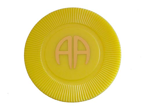 Plastic Aa Poker Chips And Tokens Alcoholics Anonymous