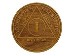Wooden Anniversary Coins