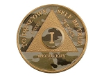 Gold Plated Camo Finish AA Medallion