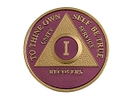 Amethyst Gold Plated AA Medallion