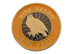 Ride Clean Ride Free Paint on Demand Medallion