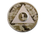 Silver Plated Camo Finish AA Medallion