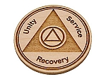 Maple Wood Recovery Medallion