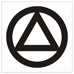 12 Inch AA Circle & Triangle Decal