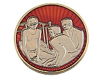 Tri-Plated Man On The Bed Medallion