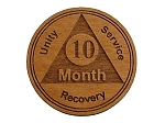 10 Month Wooden AA Coin