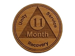 11 Month Wooden AA Token