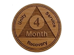 Wooden 4 Month AA Chip / Token