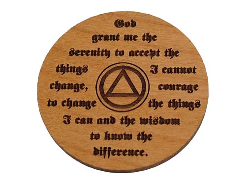 Personalized Aa Month Medallions And Recovery Tokens Wooden