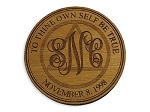 Monogramed AA Medallion