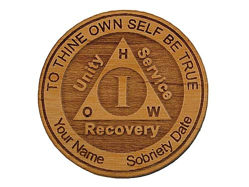 Personalized Aa Alcoholics Anonymous Anniversary Token