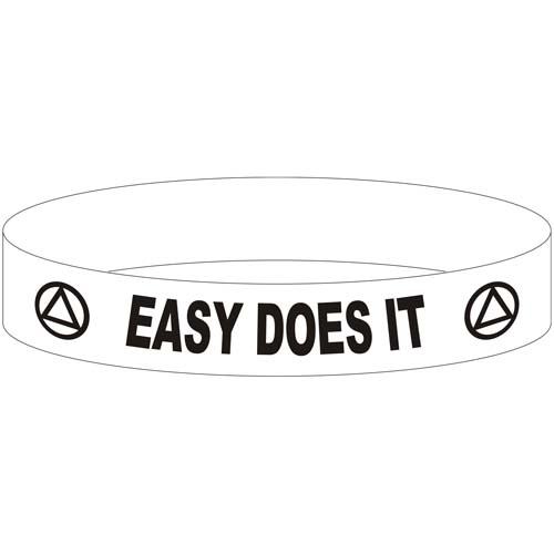 Easy Does It Aa Wristband Recovery Slogans Gifts