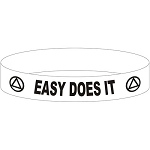 Easy Does It AA Wristband