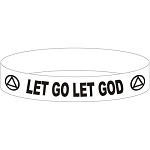 Let Go Let God  AA Wristband